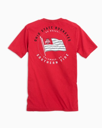 Southern Tide Ohio State Buckeyes American Flag T-Shirt