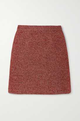 Giuliva Heritage Collection The Theo Checked Wool-blend Mini Skirt - Brick