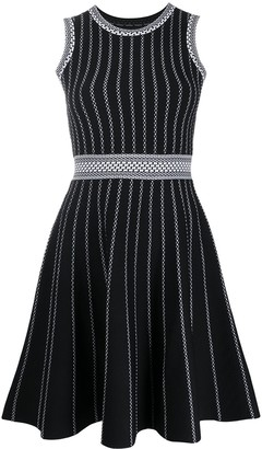 Paule Ka Striped Skater Dress