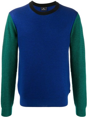 Paul Smith Panelled Fine-Knit Jumper