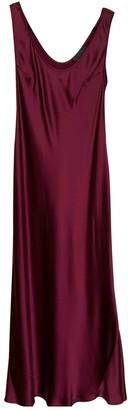 Nili Lotan Burgundy Silk Dress for Women