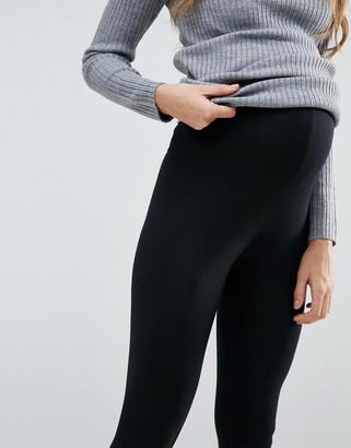 Mama Licious Mamalicious Maternity 2 pack organic leggings in black