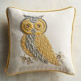 Pier 1 Imports Gilded Beaded Owl Pillow