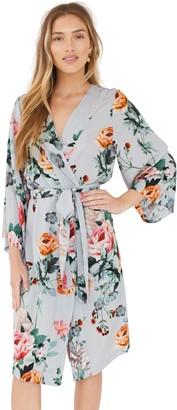Plum Pretty Sugar Floral Midi Robe