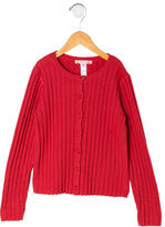 Bonpoint Girls' Rib Knit Cardigan