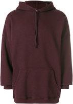 Yeezy drawstring oversized hoodie