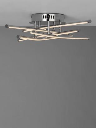 John Lewis & Partners Nest LED Semi Flush Ceiling Light, Chrome