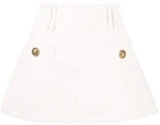 Balmain boucle A-line skirt