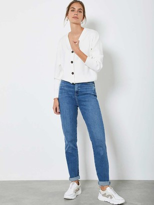 Mint Velvet Button Front Cardigan - Cream