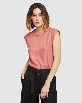 Oxford Skylar Woven Front T-shirt