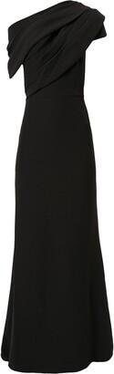 Badgley Mischka Asymmetric Maxi Dress