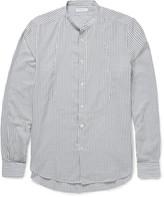 Boglioli - Slim-fit Grandad-collar Striped Cotton Shirt