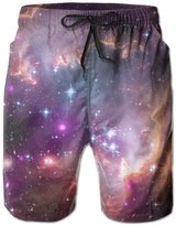 Water-art Galaxy-picture-12 Mens Water Sports Quick Dry Board Shorts M