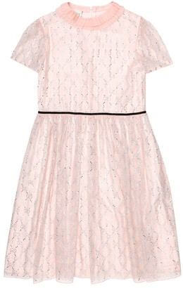 Gucci Kids GG embellished silk tulle dress