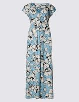 Marks and Spencer Floral Print Cap Sleeve Shift Dress