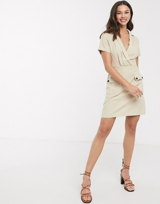 Gilli wrap front utility dress