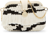 Louise et Cie Fae Woven Fringed Clutch