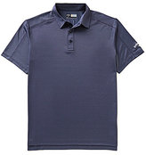 Callaway Big & Tall Denim Jacquard Short-Sleeve Solid Polo Shirt