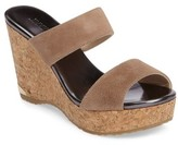 Jimmy Choo Women's Parker Cork Wedge Slide Sandal