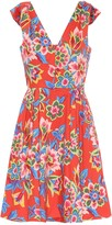 Carolina Herrera Floral stretch-cotton minidress