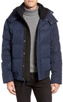 Andrew Marc Men's 'Summit' Embossed Down Jacket With Detachable Hood