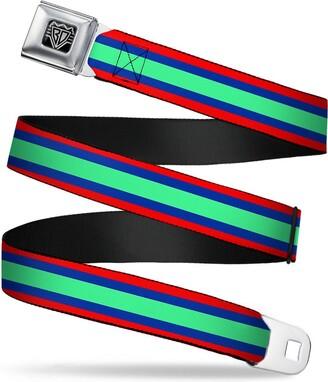 Buckle Down Buckle-Down Unisex-Adult's Seatbelt Belt Stripes Regular
