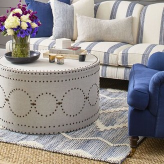 Imagine Home Solid Coffee Table Color: Navy Windowpane