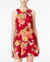 B. Darlin Lace-Up Fit & Flare Dress