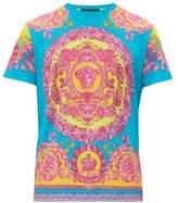 Versace - Medusa And Crown Print Cotton T Shirt - Mens - Multi