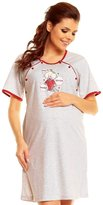 Zeta Ville Fashion Zeta Ville Womens Maternity Nursing Nightdress Breastfeeding Nightie Gown - 3c
