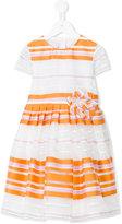 Il Gufo striped A-line dress - kids - Cotton/Polyamide/Polyester - 4 yrs