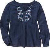Old Navy Girls Embroidered Boho Top