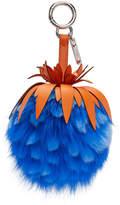 Fendi Blue Fur Pineapple Keychain