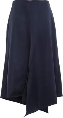 Tibi Asymmetric Satin-twill Skirt
