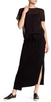 DKNY Draped Knit Maxi Skirt