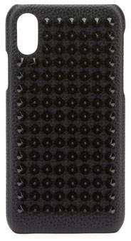 Christian Louboutin Studded LoubiPhone Case for iPhone®; X, Black