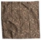 Prada Equestrian Jacquard Silk Pocket Square