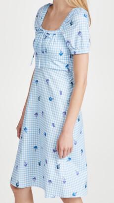 HVN Holland Bow Tie Cotton Dress