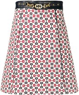 Gucci abstract print A-line skirt