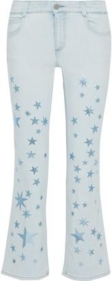Stella McCartney The Skinny Kick Printed Mid-rise Bootcut Jeans