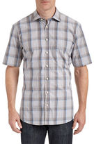 Bugatti Short Sleeve Plaid Sport Shirt