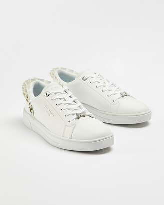 Ted Baker ASTRINA Ruffle detail tennis trainers