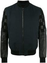 Lanvin mix material bomber jacket