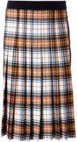 Cédric Charlier pleated tartan skirt