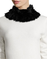 Neiman Marcus Rabbit-Fur Neck Warmer, Black