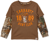 Carhartt Canyon Brown 'Hunt Club' Layered Tee - Boys