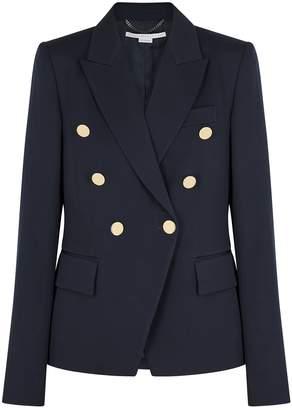 Stella McCartney Navy Double-breasted Wool Blazer