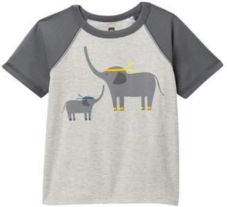 Tea Collection Martial Arts Elephant Raglan Tee (Baby Boys & Toddler)