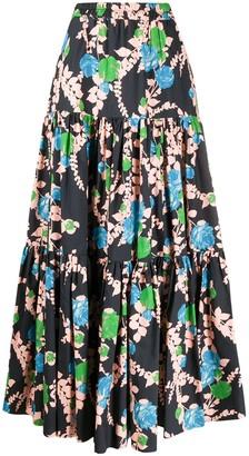 La DoubleJ Big floral print skirt