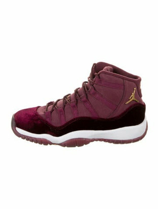 Jordan 11 Retro Heiress Night Maroon Wedge Sneakers Red
